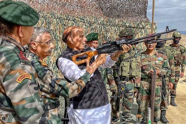 china vs india border rajnath singh