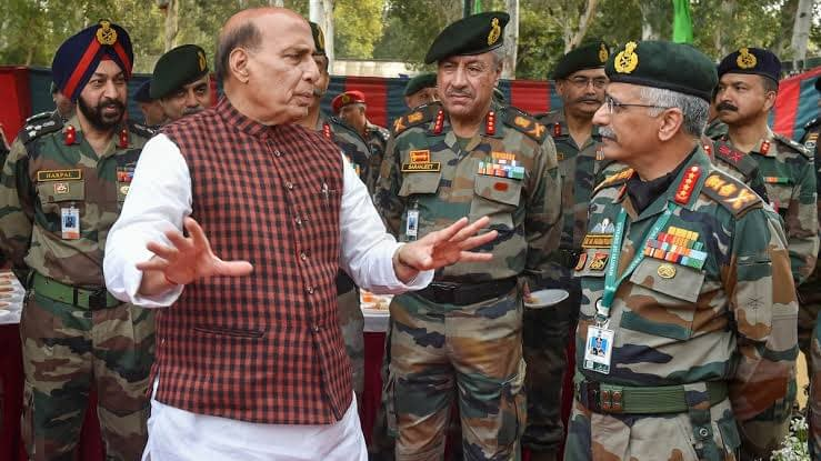 rajnath singh at the borders