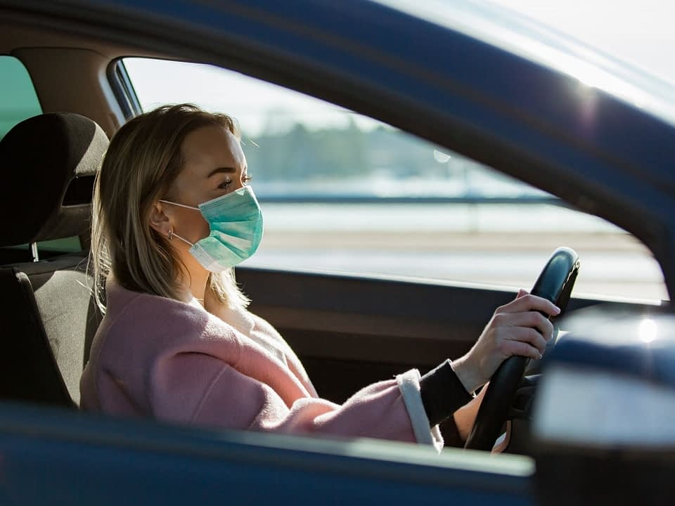 car masks driving alone