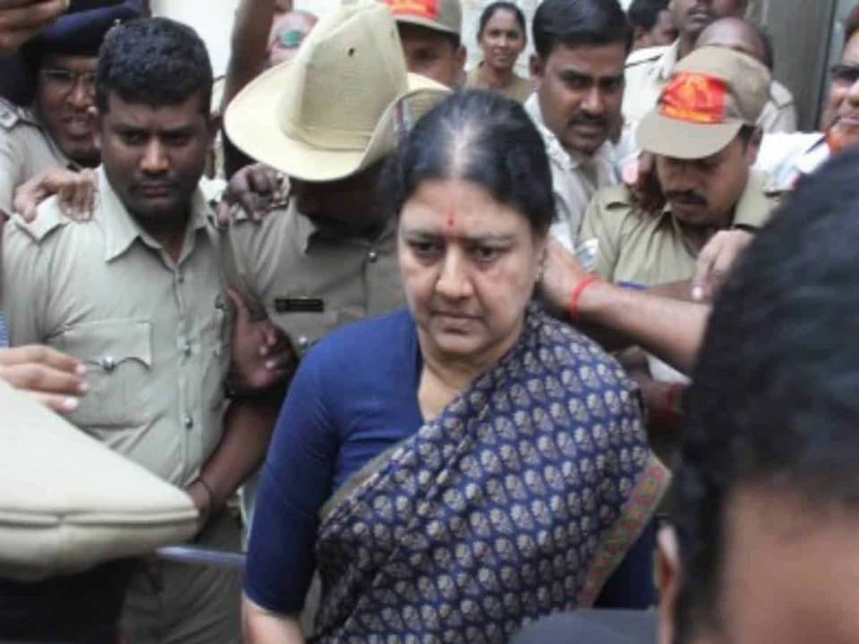 Income Tax Department freezes Sasikala's assets