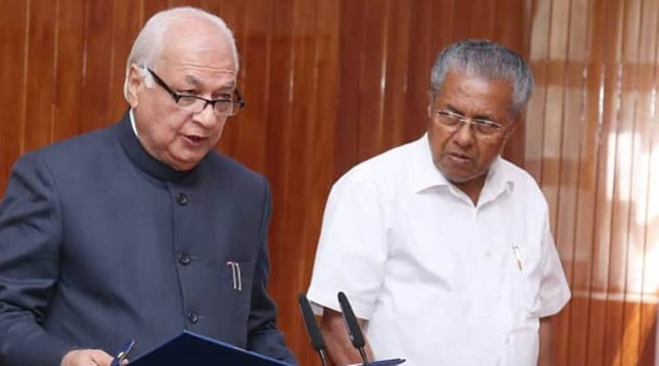 Kerala governor CM Vijayan